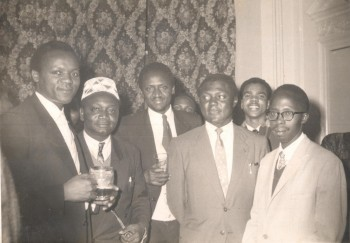 Machyo with Oginga Odinga, Okot p'Bitek, Tom Mboya and Julius Kiano