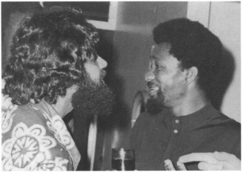 Neogy with Nigerian playwright Wole Soyinka