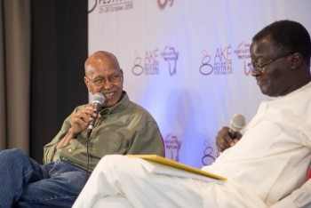 Farah and Kunle Ajibade at the Ake Art and Books Festival, Lagos, 2018